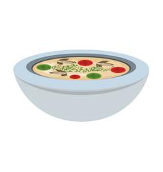 Delicious soap food vector