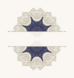 floral oriental patternvintage decorative element vector image