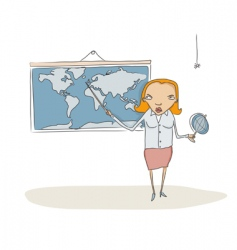 Geography teacher vector