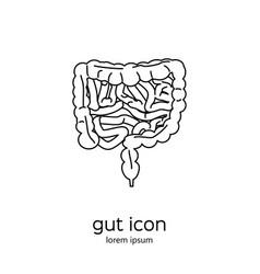 Gut human digestive system vector