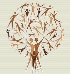 Human family tree vector