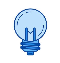 idea bulb line icon vector image