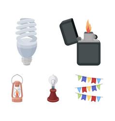 lighter economical light bulb edison lamp vector image vector image
