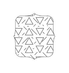 Line quadrate with geometric graphic memphis vector