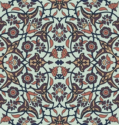 Ornament paisley arabesque floral pattern tile vector