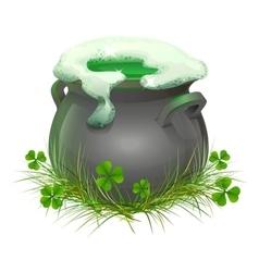 Pot of irish beer irish ale brewed in the vector