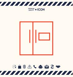 refrigerator linear icon vector image