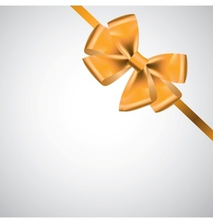 ribbon with bow on white vector image