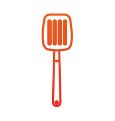 spatula for frying kitchen utensil icon vector image