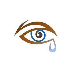 Stylized eye with tear vector