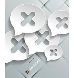 Talk concept 3d paper design vector image