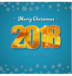 template of a square banner merry christmas and vector image vector image