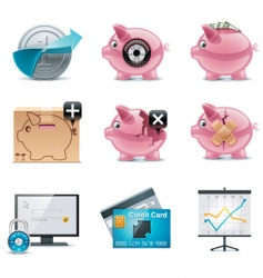 vector banking icons part 1 vector image