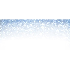 Winter banner with snow vector