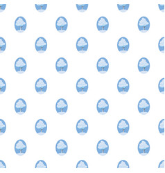 Winter tree pattern vector