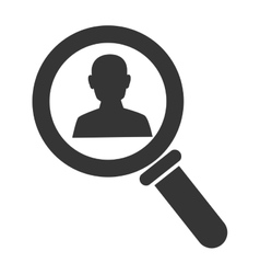 Searching male person icon vector