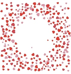 Festive background red hearts arranged in a circle vector