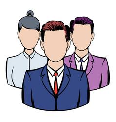 Business team icon icon cartoon vector