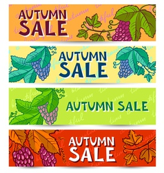 Grape banners vector