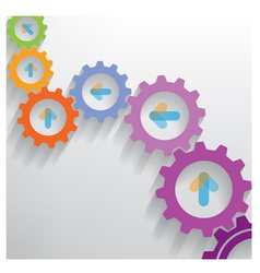 Color gears infographics number options banner vector