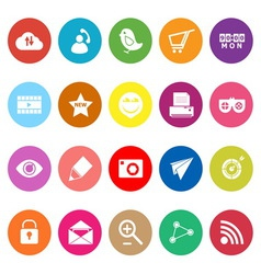 Internet useful flat icons on white background vector