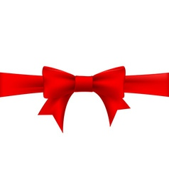 Red ribbon with a bow vector