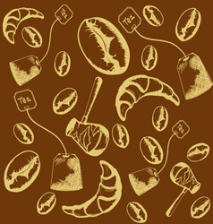 Pattern of coffee beans vector