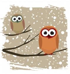winter bird vector image