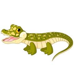 baby crocodile vector image