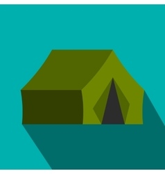 Hunting tent flat icon vector