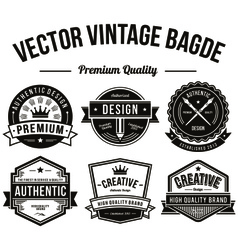 Premium quality labels in vintage style design vector