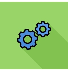 Gear flat icon vector