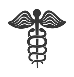 Caduceus icon medical and health care concept vector
