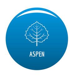 Aspen leaf icon blue vector