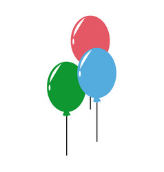 Balloons bunch helium rubber fly decoration vector