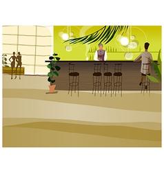 Bar counter vector image