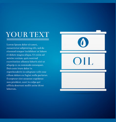 Barrel oil flat icon on blue background vector