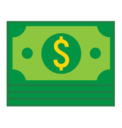 Bundle of money flat icon business and finance vector