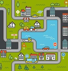 City life minimalism concept vector image vector image