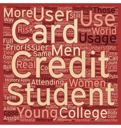 College students should have a student credit card vector