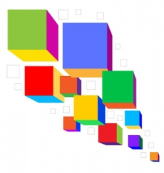 Colorful cubes vector