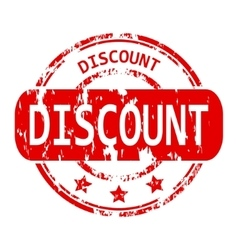 Discount rubber stamp vector image vector image