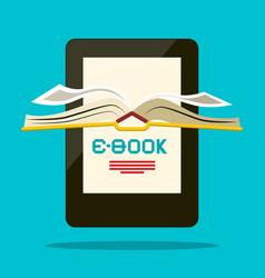 E-book reader book symbol vector