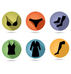 Female fashion underwear cloth sign womens vector