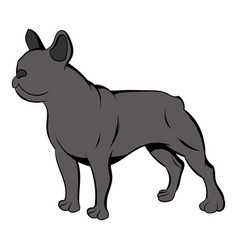 french bulldog icon cartoon vector image