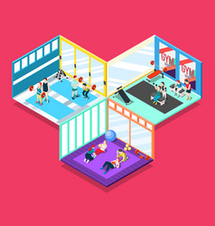 Gym isometric design concept vector
