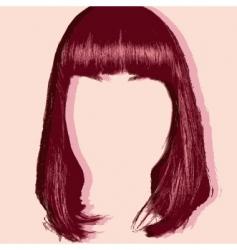 hair cut pop art style vector image vector image