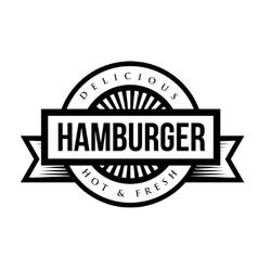 Hamburger vintage stamp vector image