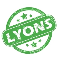 Lyons green stamp vector