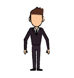 Man faceless male avatar body image vector